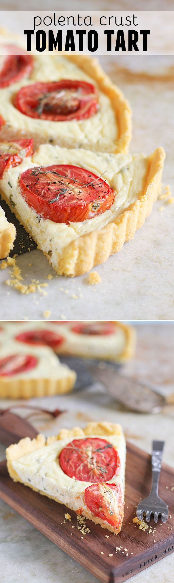 Polenta Crust Tomato Tart | Recipe | Salts, All things and Gluten free