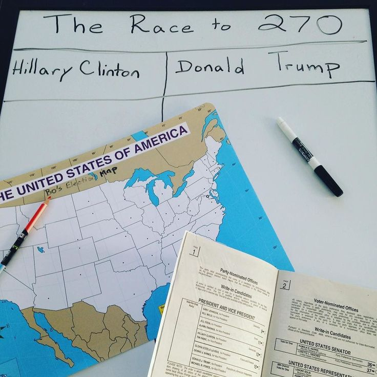 United States coloring page  red/blue pencil wipe board set up for adding electoral votes sample ballot  nanny kid and I are ready! #nannylife