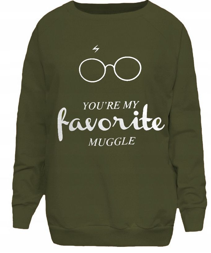 Harry Potter Bluza Dresowa Oliwka S M 7828485017 Oficjalne Archiwum Allegro Sweatshirts Sweaters Fashion