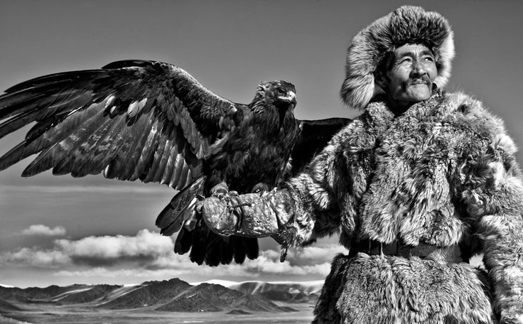 """""""The last of the Mongolian eagle hunters: In remote Mongolia, a few men continue the dying tradition of training golden eagles to hunt."""""""