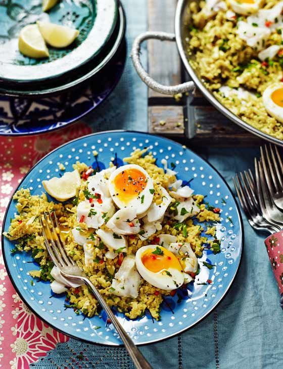 Cauliflower rice and coconut kedgeree from the Hemsley sisters