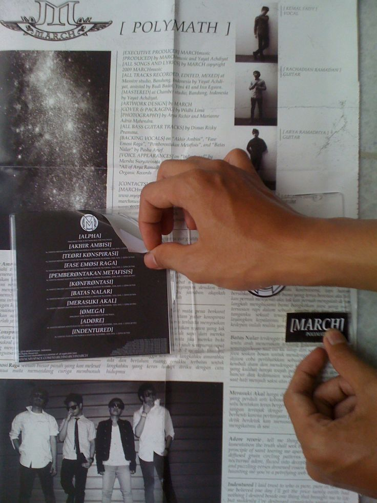 """MARCH are Indonesian Indie Rock band. with metal tunes and good looking members. working for album artworks in 2011 called """"POLYMATH"""""""