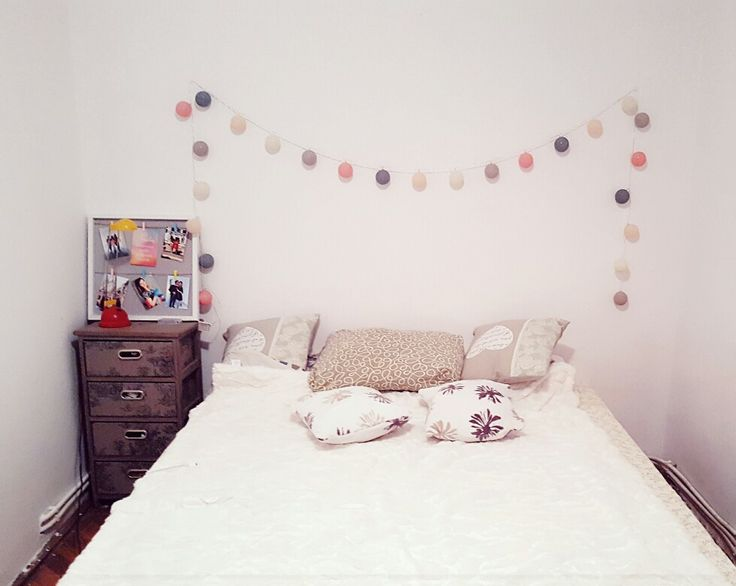 Room decoration #lights #colours #bedroom #pillows
