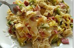 Kelkáposztás baconös sajtos tészta | Receptkirály.hu