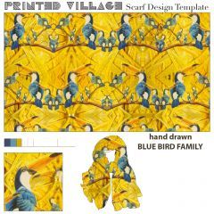 I LOVE Mimmy B Chatterjii's Scarf Design for @PrintedVillage