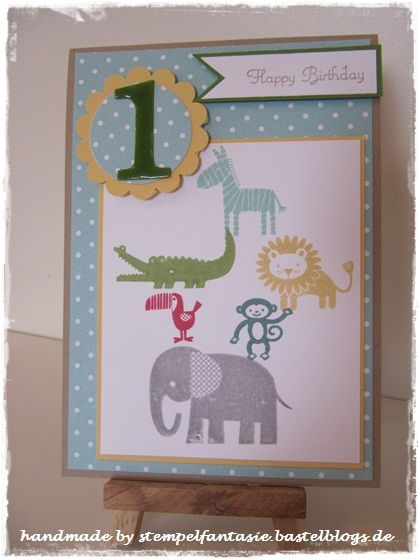 kinderkarte geburtstag zoo babies kindergeburtstag stampin. Black Bedroom Furniture Sets. Home Design Ideas