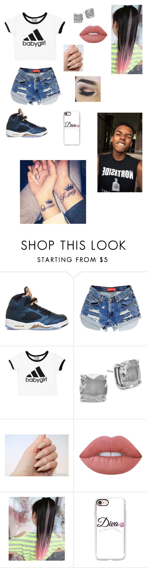 """gettin tattoos wit my bae!!!"" by we-be-slayin ❤ liked on Polyvore featuring NIKE, Kate Spade, Lime Crime and Casetify"