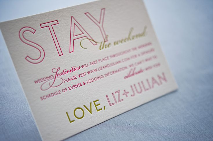 Colorful Destination Wedding Save the Dates by Gus & Ruby Letterpress