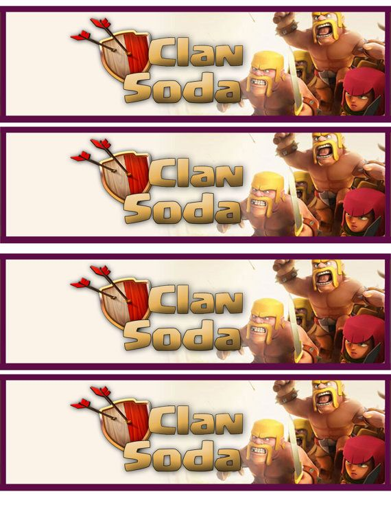 Instant download Clash of Clans Water Bottle by DecorAtYourDoor