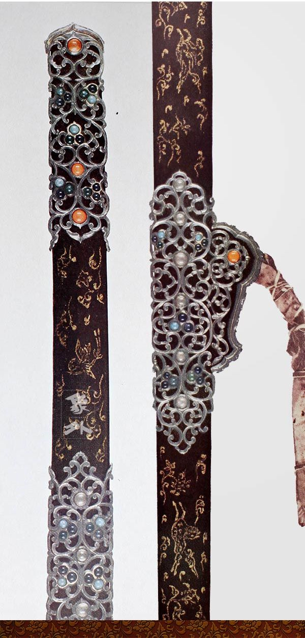 日本東大寺正倉院寶物-鍍金銀刀