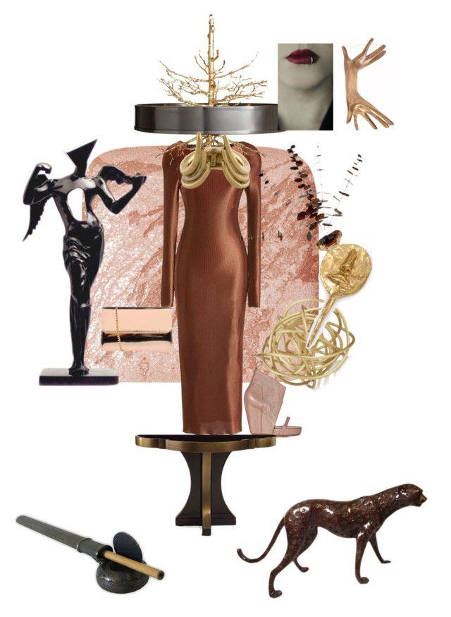 """Storm brewing"" by palmgrass99 ❤ liked on Polyvore featuring mode, Hourglass Cosmetics, Barbara Casasola, Rick Owens, John-Richard, Salvador Dali, Kelly Wearstler, Borsetteria Napoli 1985 en Aesa"