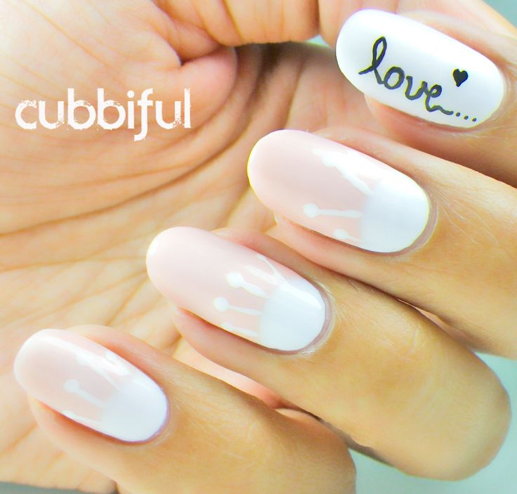 49 best romantic nail designs images on pinterest nail art ideas how to draw the word love on white gelish nails google search prinsesfo Images