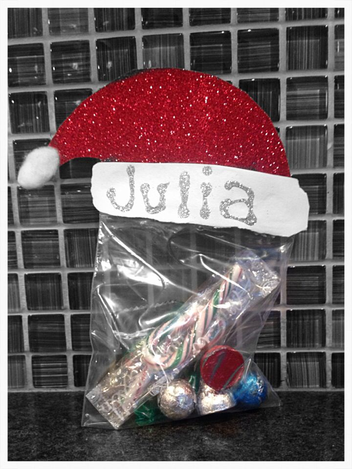 Personalized Christmas Goodie Bags for kids.