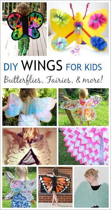 12 DIY Wings to Make for Kid Costumes perfect for pretend play!