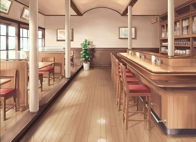 Dining Room, Background, Anime Background, Anime Scenery, Visual Novel Scenery, Visual Novel Background