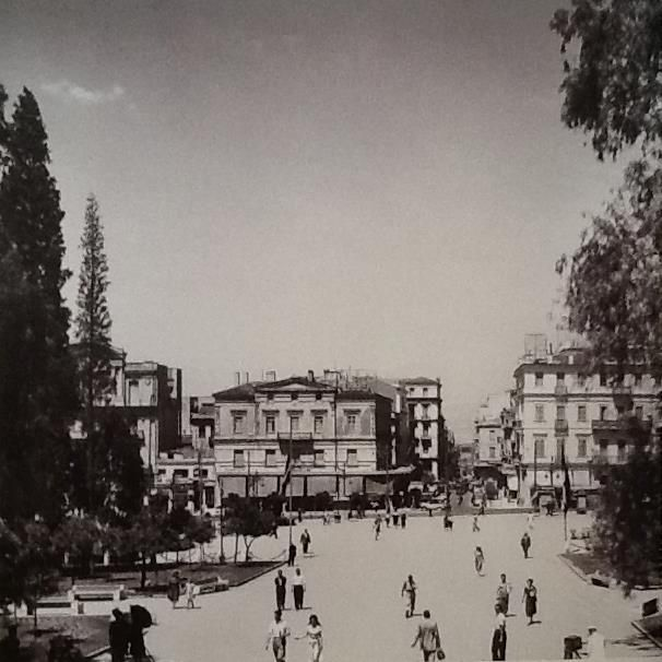 Syntagma square, Athens 1951, photo by Dimitris Harissiadis - Phorographic Archives of the Benaki Museum