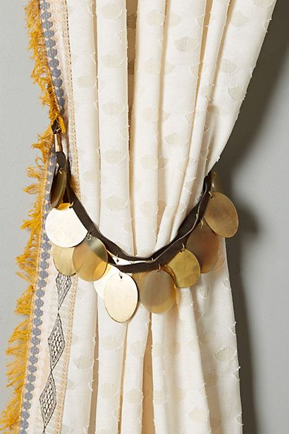 Curtains Ideas anthropologie curtain tie backs : 1000+ images about Tiebacks on Pinterest | Drapery holdbacks ...