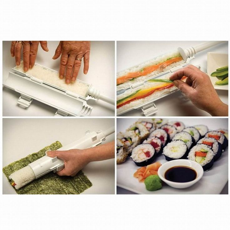 Perfect Sushi Roll Maker Kit Rice Roller Mold Mould Chef Kitchen DIY Set #Unbranded
