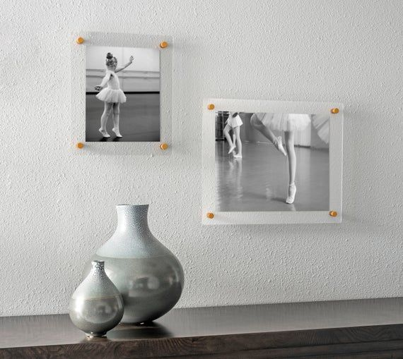 Custom Acrylic Frame Photo Floating Frame Frameless Picture Frame Standoff Frame Floater Galler Acrylic Frames Floating Frame Picture Frames