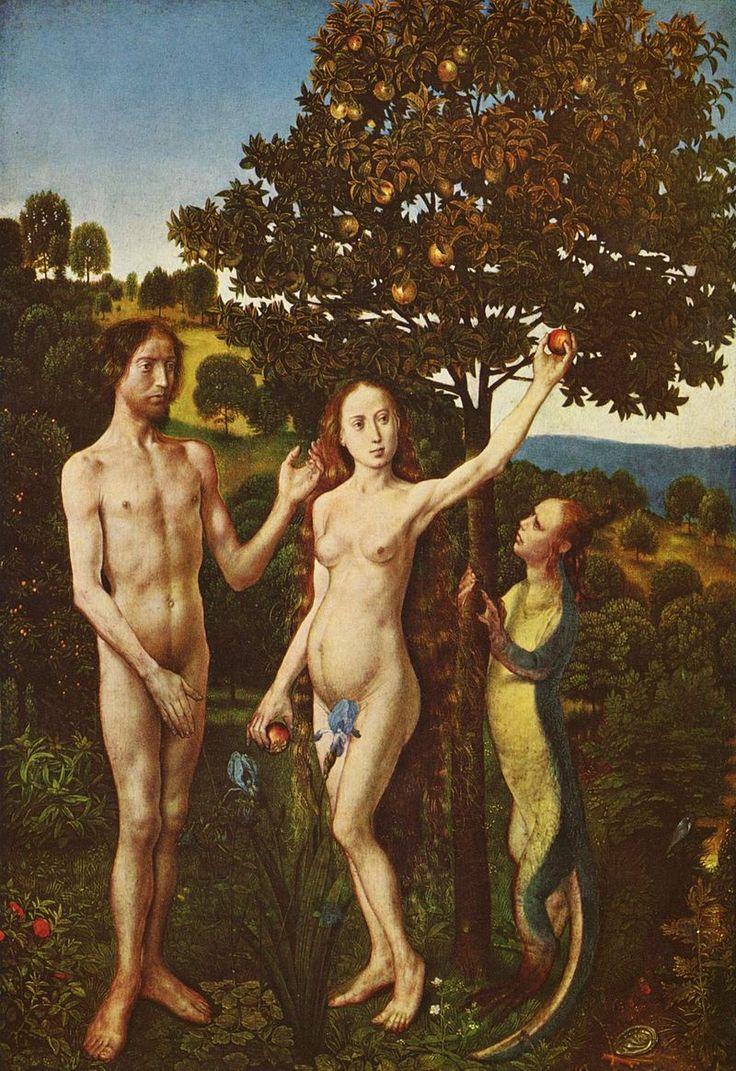 Hugo van der Goes 009 - Хуго ван дер Гус — Википедия Грехопадение (крыло Венского диптиха).