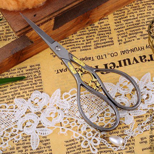 Купить Ножницы винтажные - темно-серый, рукодельнице, подарок женщине, подарок подруге, интерьер