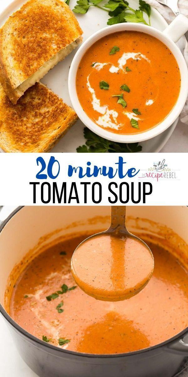 Creamy Tomato Soup In 2020 Creamy Tomato Soup Easy Tomato Soup Recipe Tomato Soup Easy