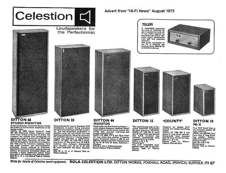 Celestion Ditton S Vintage Speakers Vintage Electronics Hifi