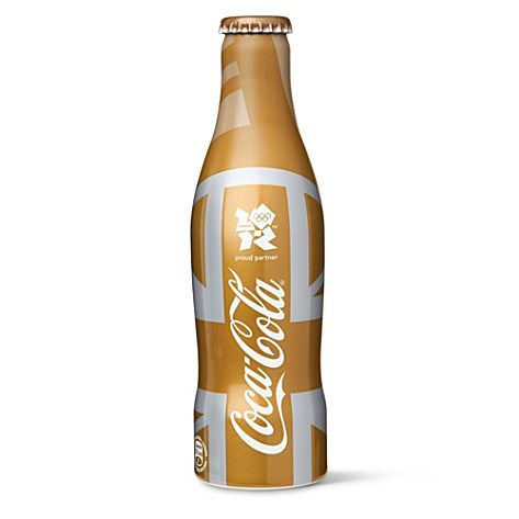 A Luxurious Gold Olympics Coca Cola