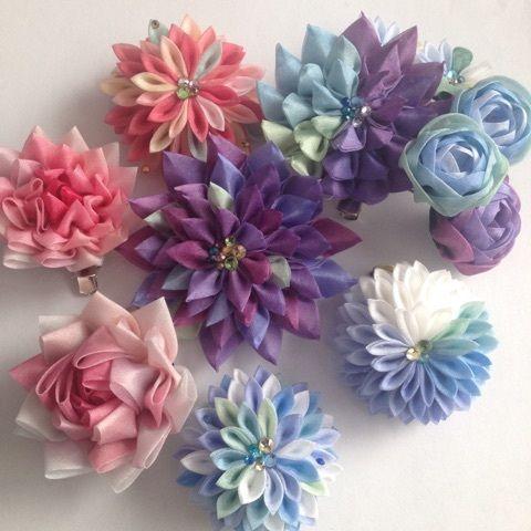 つまみ細工の花とりどり 東京広尾 つまみ細工教室「花びら」
