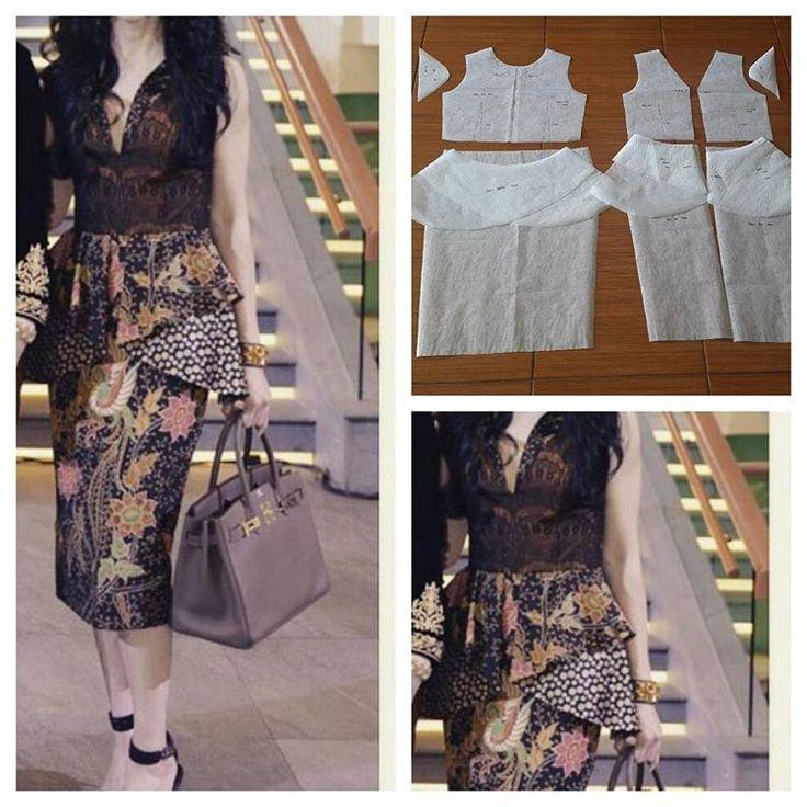 Batik peplum dress pattern. Best seller  Order by line : @modelliste (with @) #jualpola#modellistepattern#jualpattern#polabaju#polapakaian#jualpolabaju#jualpolapakaian#jasapola#jasapolabaju#jasapolapakaian#batikdress#poladress#jualpoladress#polabatik#batik#dressbatik