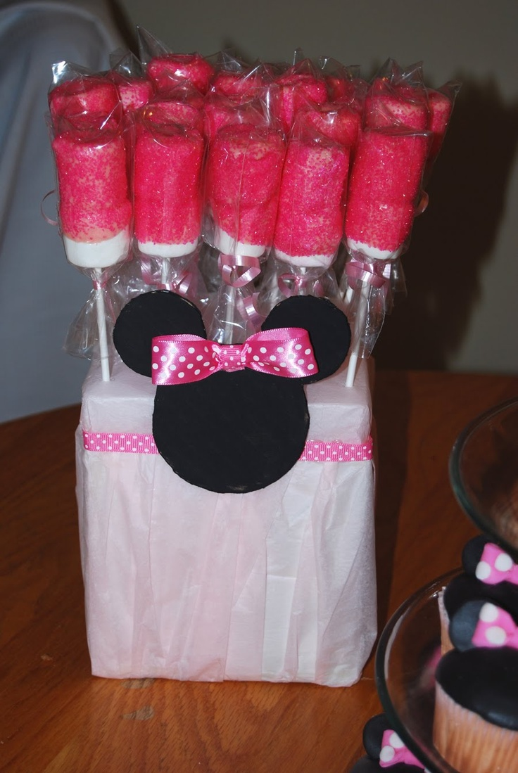 Marshmallow With Candy Melts And Glitter Sugar Disney