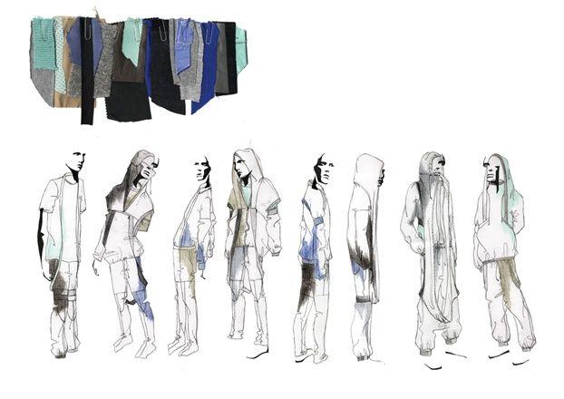 Fashion Portfolio - fashion design development process, collection lineup; fashion illustration; fashion sketchbook // Astrid Andersen
