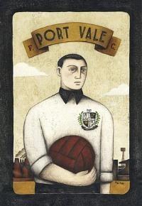 Port Vale Player original by sports artist Paine Proffitt. £250
