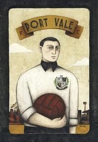 Port Vale Player original by sports artist Paine Proffitt. £250
