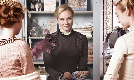 The Paradise. I'm loving this new BBC period drama. It's set in a department store in England and features an interesting array of characters. The lead is a shop girl, Denise Lovett, who is bright and innovative (probably much before her time). There are a few interesting intrigues that are going to keep me watching :-).