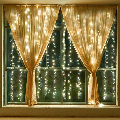** New and awesome product awaits you, Read it now : Leapair Curtain Lights 300LED 9.8 x 9.8Ft - 3MX3M-  8 Modes Warm White 3000K Outdoor Fairy String Light Led Window Curtain Light for Christmas Xmas Wedding Party Home Decoration with Memory Function at Christmas Decorations.