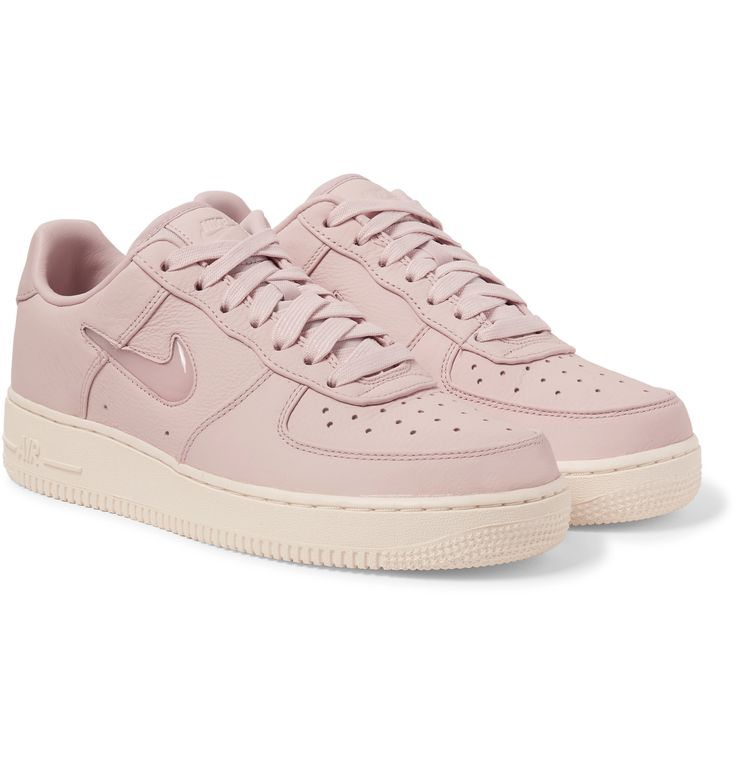 <a href='http://www.mrporter.com/mens/Designers/Nike'>Nike</a>'s iconic 'Air Force 1' sneakers get the regal treatment with 'Jewel' translucent swooshes. Made from pale-pink leather (one of our favourite trends), they have a fresh, fun feel. Wear them to add irreverence and personality to casual looks.