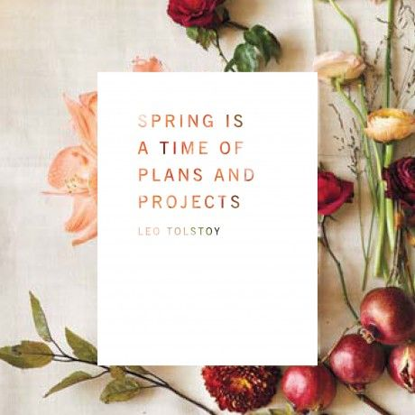 Flower Potluck Guide - Restored.nl collaborates w/ Kinfolk: 'spring is a time of plans & projects'  quote by Leo Tolstoy
