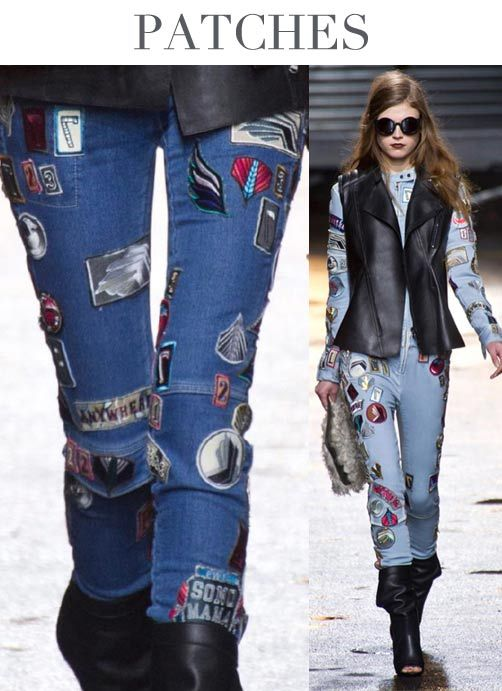 F/W 2014-15, mens and women's contemporary denim, key trends, patches