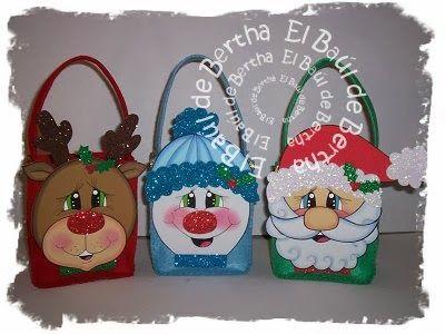 Bertha manualidades dulceros navide os for Manualidades renos navidenos