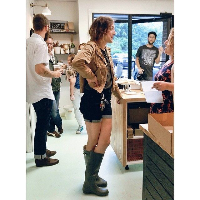 2228 Emily is wearing her green Wellies