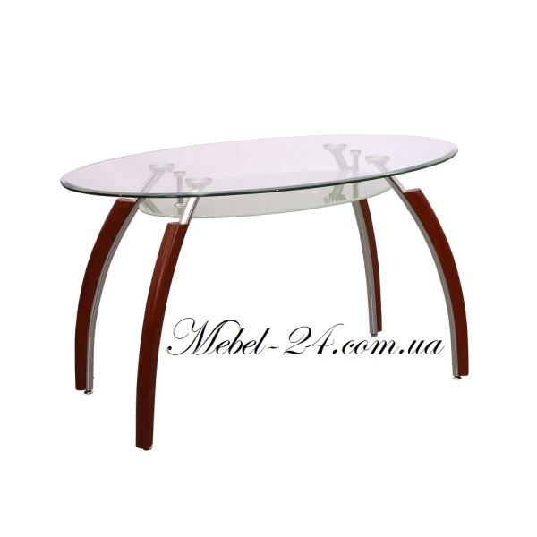 Стол В 2016-1 Вишня-хром кухонный стекло, кухонные столы фото, лучшая цена в интернете, цена + характеристики