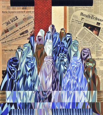 """Saatchi Art Artist Graziella Coi; Collage, """"Il Quinto Stato/ The Fifth Estate"""" #art"""