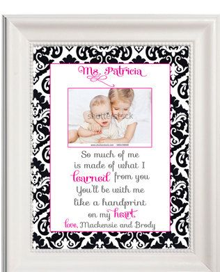 PRINTABLE Dasmak Mothers Day Gift, Teacher, Nanny, Babysitter Gift, Personalized Wicked Lyrics, Hand print on heart (Digital YOU print) by Audra's Pretty Chic Designs on Etsy