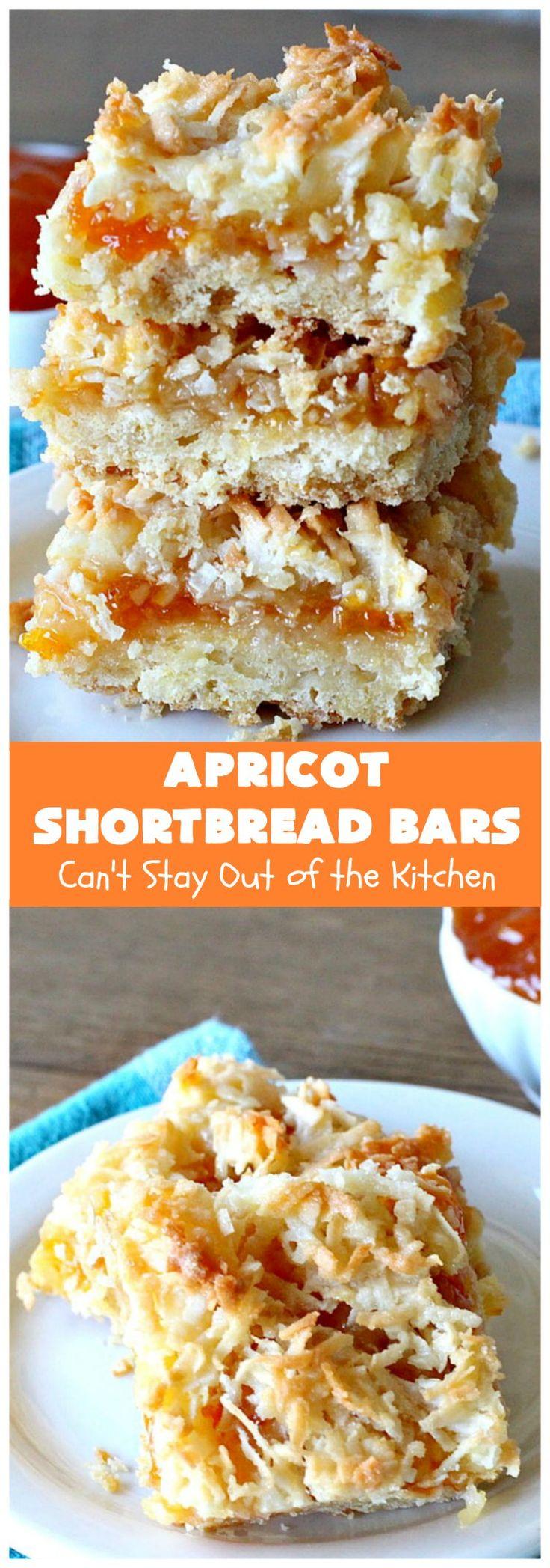 Apricot shortbread bars recipe in 2020 shortbread bars