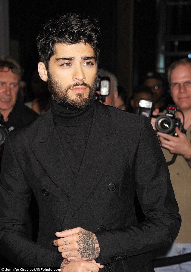 I'll be there for you:Zayn Malik put on a brave face as he threw himself…