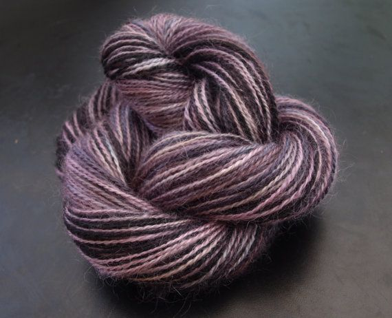 150g Hand spun, hand painted yarn 100% wool.  Welcome to Night vale.  Available on Etsy!