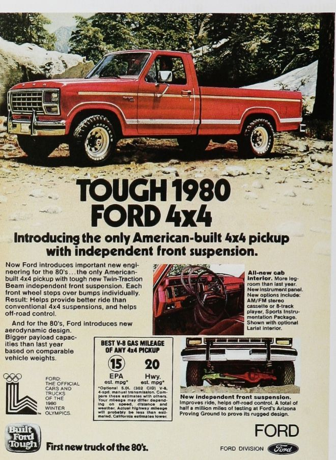 1980 Ford Truck Print Ad. Awesome Truck! Jimmy Granger Ford, Stonewall LA #Shreveport Bossier City LA www.jimmygrangerford.com