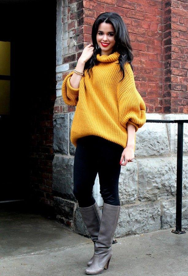 Идея для шоппинга: горчичный свитер 0