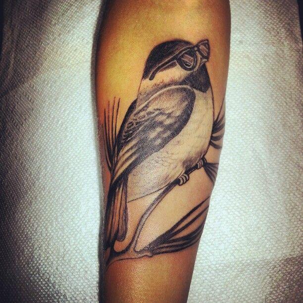 My new chickadee #tattoo! Thanks to D.J. Price @ blindfaith tattoo